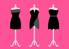 des mannequins habillés